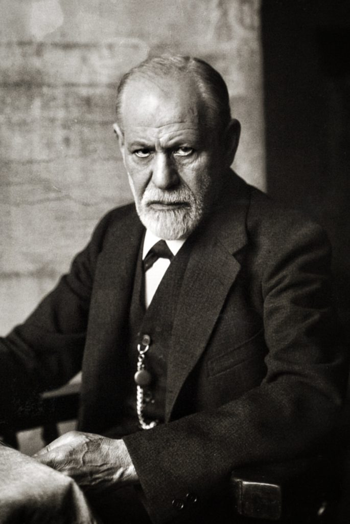 portrait of sigmund freud