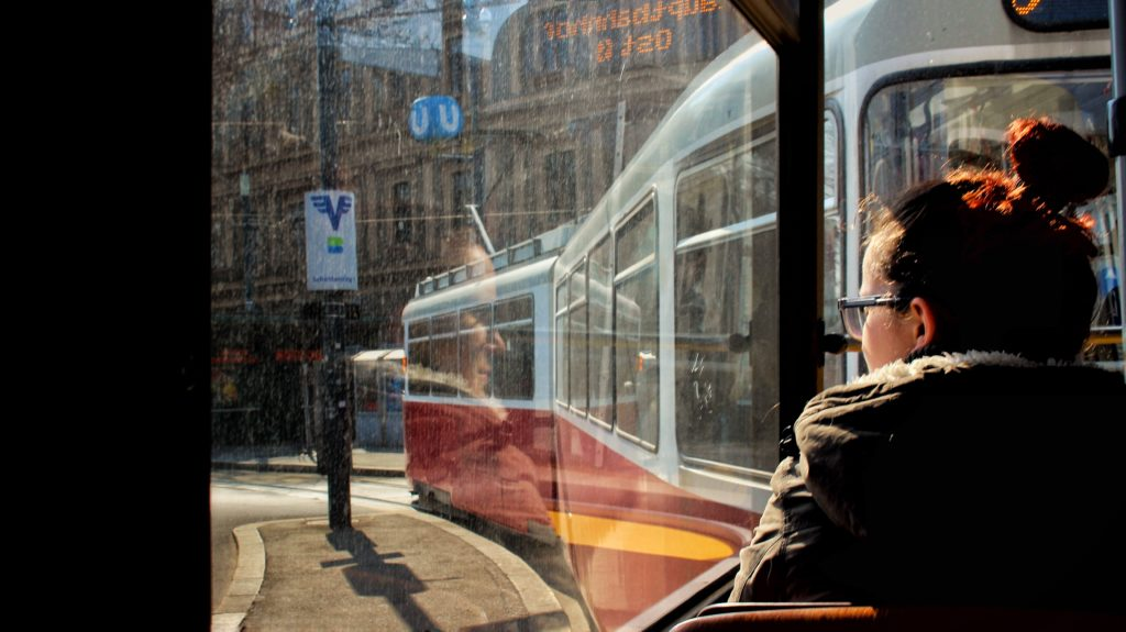 Tram ride in Vienna