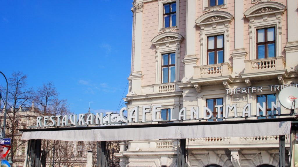 Exterior of Cafe Landtmann in Vienna