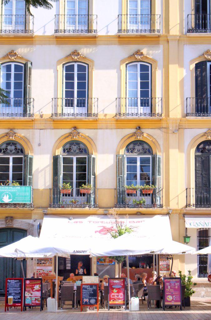 Cafe street life in Malaga