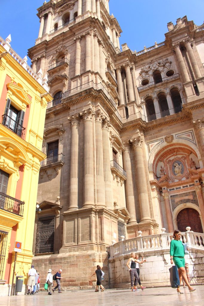 The church facade of Malaga Cathedral