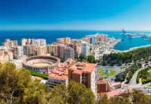Panoramic view of the Malaga City