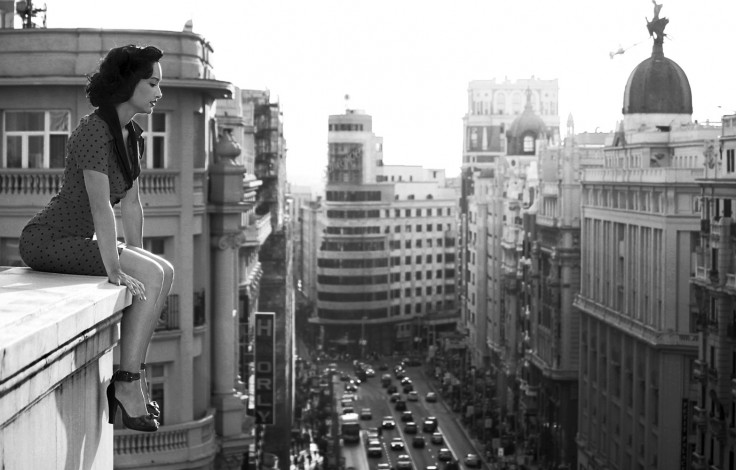 Madrid Buildings in Black and White